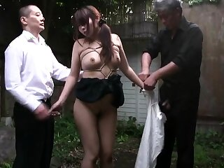 Fetish asian pees alfresco