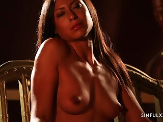 XXX solo video be worthwhile for sexy Cassie Del Isla masturbating superior to before the chair