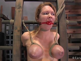 Video of hardcore boobs and ass torture for pornstar Rain DeGrey