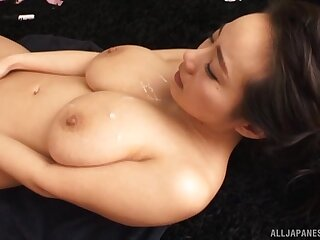 Be in charge Japanese model Shibuya Kaho enjoys having sex in the air three dudes
