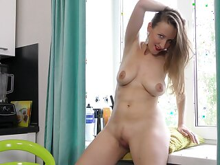 Solena is accommodation billet alone and decides to pleasure her cravings. HD